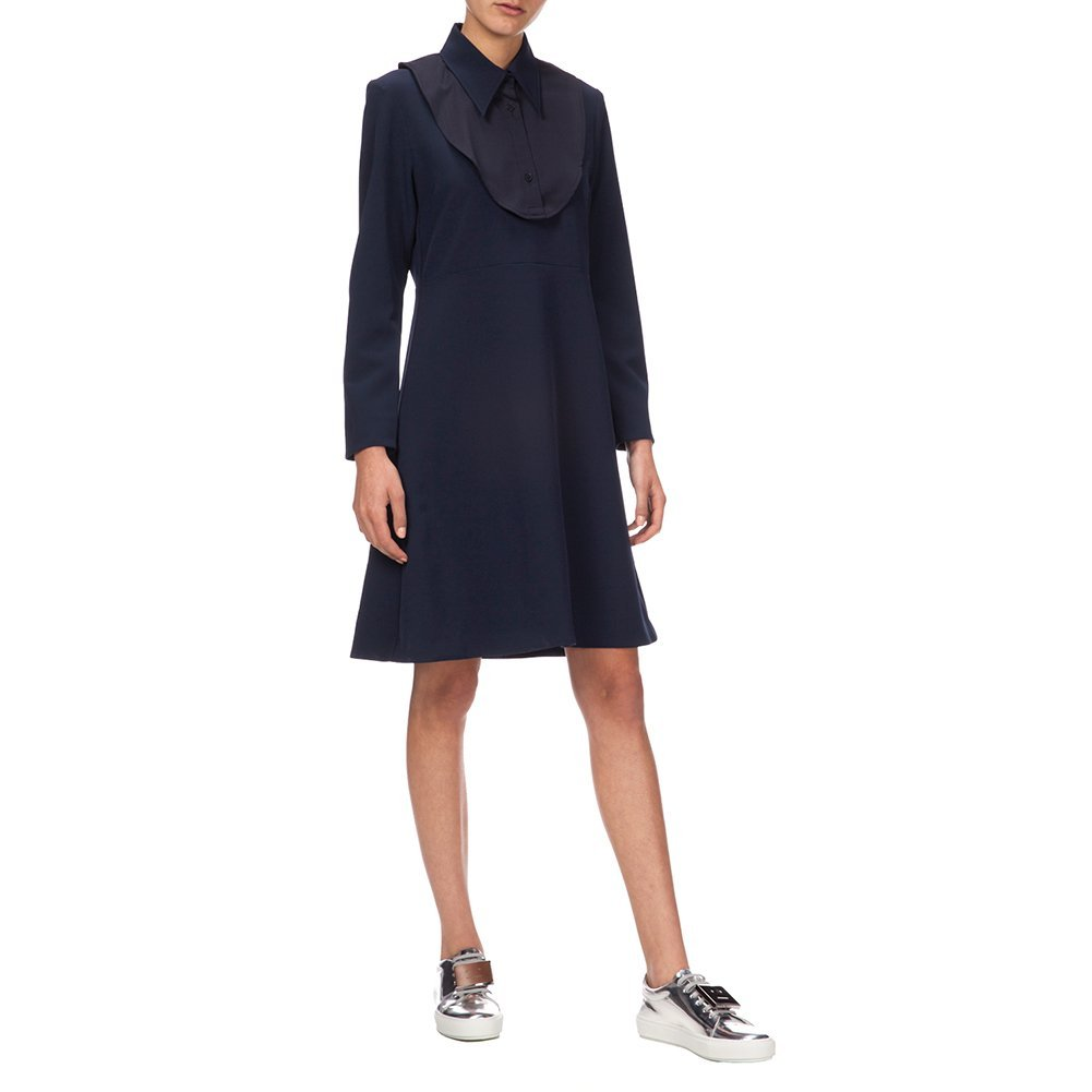 Wood Wood Women's Antina Dress 11531102-1069 Dark Navy, Size EU 38 / US 6