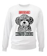 Maltese - official walker - NEW WHITE COTTON SWEATSHIRT - $30.65