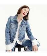 "J. Crew Women's Blue ""Classic Denim Jacket"" with Cactus Patch Medium - £53.65 GBP"
