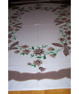 Vintage butterflies and flowers tablelcloth - $22.00
