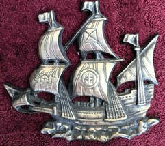 Vintage Norleans Japan Metal Ship Wall Decor - $25.00