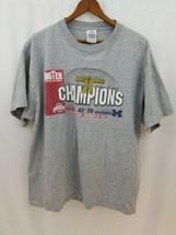 Ohio State Buckeyes Football Big Ten Champions 2006 Mens T-Shirt L Large Gray - $11.64