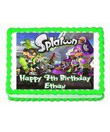 Splatoon Gaming Edible Cake Image Cake Topper - $8.98+