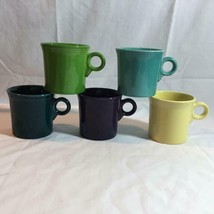 Lot of 5 Fiesta Coffee Mugs Multi Color - $19.34