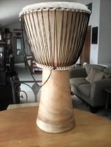 VINTAGE Wood Drum Bongo Drum Instrument very deep bass sound - $100.00