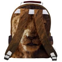 Rounded Multi Pocket Backpack kids school bag lion lions king - $53.00