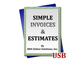 Easy to Use Simple Invoices and Estimates Software for Windows Computers PC USB - $13.14