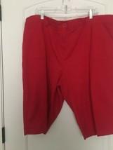 COUNTERPARTS Women's Casual Capri Shorts Sz 20W Red  - $41.28