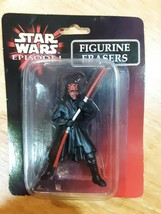 STAR WARS EPISODE 1 FIGURINE ERASER  DARTH MAUL New Free Fast Ship Rare ... - $5.44