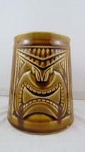 Vintage Tiki Mug - Fierce Tiki Face with Diamond Pattern - Made in Japan - $75.00