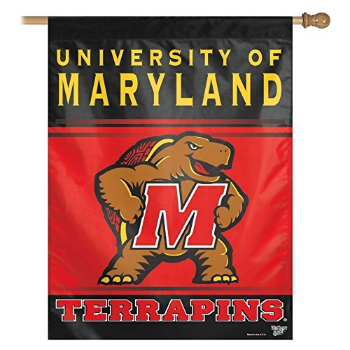 "University of Maryland Terps Vertical Outdoor House Flag, 27"" x 37"" - $24.74"