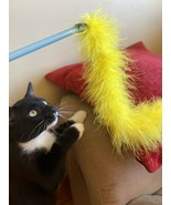 Pet Cat Toys Feather Wand Rod Balls Pet Kitty Play Funny Teaser Interact... - $7.91