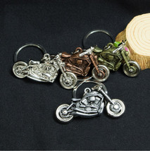 Copper Harley Davidson motorcycle key chain ring with gift box - $10.99