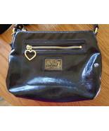 Coach Signature Black Patent Leather Poppy Shoulder Crossbody Bag  - $29.99