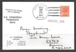 1979 Paquebot Cover, British stamp used in Agana, Guam - $5.00