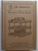 J. K. Adams Co. WOODEN WINE RACK 6 Bottle Builders pack - NEW in opened box - $18.79