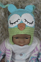 Knit Crochet Baby Child Kids Owl Hat  Beanie Newborn Photo Prop Hat Blue... - $5.99