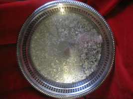 VINTAGE Newport  Silverplate Round  10 inch Platter Tray or Serving Dis... - $9.49