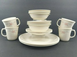 20 Corelle English Breakfast Vintage Dinner Bread Plates Soup Cereal Bowls Mugs - $88.77