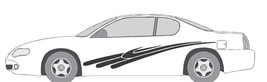 VINYL GRAPHIC #A712 SIDE DECAL AUTO SUV  VEHICLE CROSS OVER SWOOSH  TRUC... - $66.59