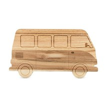 Rustic Cheese Board, Rubber And Acacia Wood Camper Serving Elegant Chees... - $33.79