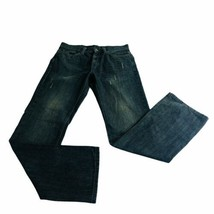 helix mens jeans relaxed boot cut size 32 distressed casual denim pants - $27.76