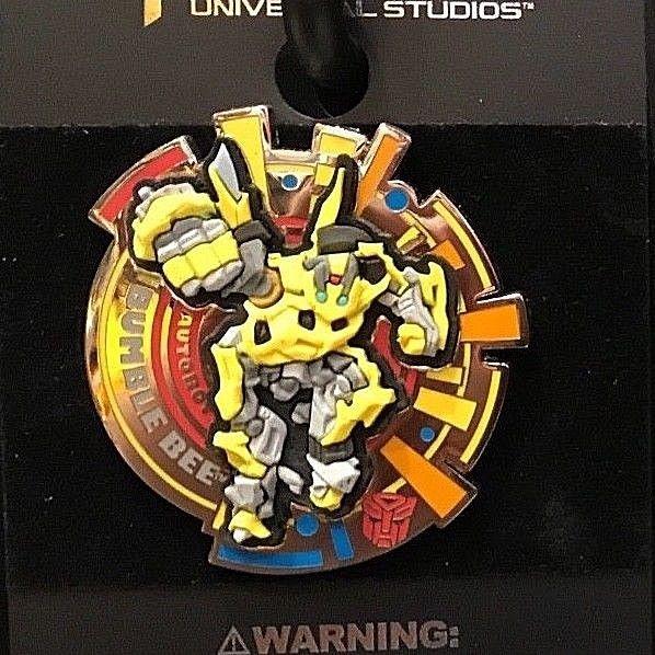 Universal Studios Exclusive Transformers Autobot Shield Bumblebee Pin New