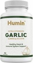 Garlic Supplement w/ 5000mcg of Allicin - Heart Health & Blood Pressure Support