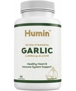 Garlic Supplement w/ 5000mcg of Allicin - Heart Health & Blood Pressure ... - $48.02