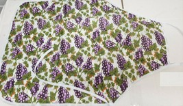 "Fabric Printed Kitchen Waterproof Apron, (approx. 20"" x 36"") GRAPES by TG - $12.86"