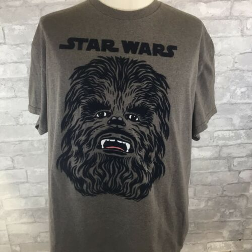 Primary image for STAR WARS CHEWBACCA FACE Mens Brown T-SHIRT SIZE X-Large Tee Chewie Wookie