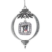 Inspired Silver Blue Pit Bull Classic Holiday Ornament - $14.69