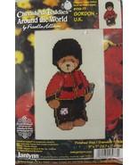"""Cross Stitch Cherished Teddies Around the World Gordon UK 5 x 7"""" Janlynn... - $8.79"""