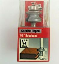 "Vermont American Router Bit 1/8"" Edgebead Carbide Tip 1/4"" Shank 23137 - $4.74"