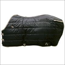 "69"" Hilason Westren Horse Open Front 420 Denier Winter Stable Blanket Black U-69 - $84.95"