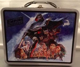 Star Wars THE EMPIRE STRIKES BACK Metal Lunch Box - Great For Figure Sto... - $14.21