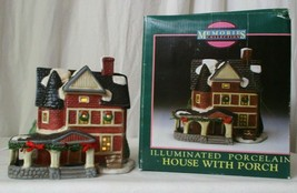 MEMORIES COLLECTION ILLUMINATED PORCELAIN House with Porch - $24.74