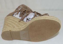 BF Betani Shiloh 8 Stone Fringe Wedge Heel Sandals Size 7 image 6