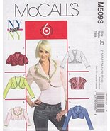 McCall's 5093, Juniors' Lined Jackets, Size JD (11/12-13/14-15/16-17/18) - $12.74