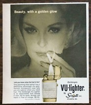 1963 Scripto Goldenglo Vu-Lighter Print Ad Beauty With a Golden Glow - $8.95