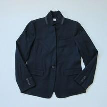 NWT J.Crew Regent Blazer in Navy Blue Wool Flannel Single Button Jacket ... - $87.00
