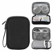 Double Layer High Capacity Headset Data Lines Protective Case-Black - $19.41
