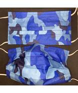 10 pieces Blue Camo disposable face mask - $11.00