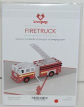 Lovepop LP1519 Fire Truck Red Pop Up Card White Envelope Paper Cellophane Wrap image 7