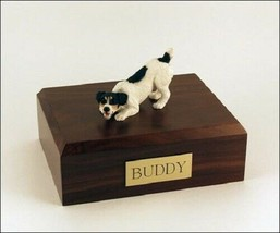 Jack Russell Terrier Black Figurine Pet Cremation Urn Avail. 3 Colors & ... - $169.99+