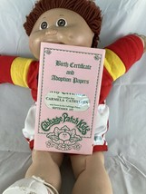 Vtg Cabbage Patch Kid Boy Brown Eye Brown Hair Dimples w/ Sport Outfit & Shoes - $39.57
