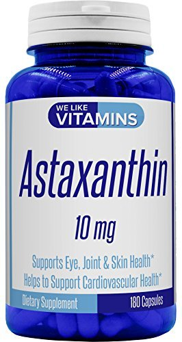 Astaxanthin 10mg - 180 Capsules - Non GMO & Gluten Free Astaxanthin Supplement 6