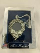 Gloria Duchin Pewter Wreath Picture Christmas Ornament  - $9.95