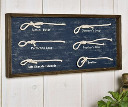 "23"" Framed Nautical Knots Wall Decor - Blue - Many Different Knots Displayed - $59.39"