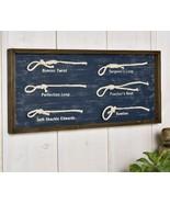 "23"" Framed Nautical Knots Wall Decor - Blue - Many Different Knots Displ... - $59.39"